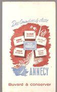 Buvard ANNECY Rue VAUGELAS Des Commerces De Classe - Buvards, Protège-cahiers Illustrés
