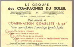 Buvard LE GROUPE DES COMPAGNIES DU SOLEIL Assurances - Bank & Insurance