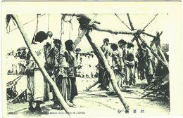 Carte Postale Ancienne De COREE-CRIMINALS BEING EXECUTED IN COREA - Corée Du Nord
