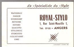 Buvard ROYAL STYLO Le Spécialiste Du Stylo 1, Rue Saint-Maurille à Angers - Stationeries (flat Articles)