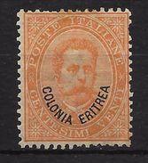 ERITREA. COLONIA ITALIANA YVERT Nº 5 SIN GOMA - Eritrea
