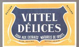 Buvard VITTEL DELICES Soda Aux Extraits Naturels De Fruits - Limonadas - Refrescos