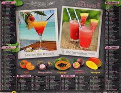 Calendrier Almanach La Poste PTT 2017 COCKTAILS Punch, Mojito, Watermelon Tonic Et Sex On The Beach - Big : 1991-00