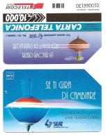 SCHEDA TELEFONICA USATA Se Ti Gira Di Cambiare (bifacciale) 322  - AV3 2 - Italia