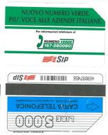 SCHEDA TELEFONICA USATA Nuovo Numero Verde,più Voce 341 - AV3 5 - Italia