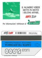 SCHEDA TELEFONICA USATA Numero Verde Mette In Moto,aereo 345 - AV3 5 - Italia
