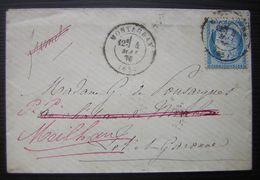 1876 Montauban Lettre Redirigée Vers Meilhan (Lot Et Garonne) Pour Madame De Pousargues - 1849-1876: Periodo Clásico