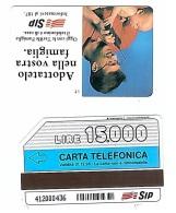 SCHEDA TELEFONICA USATA Telefonino SIP 368 - AV3 7 - Italia