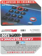 SCHEDA TELEFONICA USATA R2- Avviso Di Chiamata 406  - AV3 11 - Italia