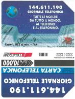 SCHEDA TELEFONICA USATA Giornale Telefonico 412 - AV3 11 - Italia