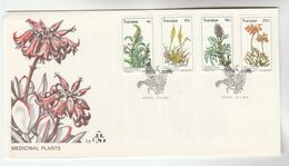 1977 TRANSKEI FDC Stamps MEDICINAL PLANTS FLOWERS Cover Flower Medicine Health - Medicinal Plants