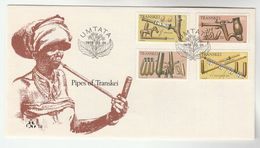 1978 TRANSKEI FDC Stamps SMOKING PIPES  Cover Health - Tobacco