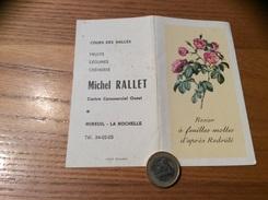 Calendrier 1970 « Michel RALLET MIREUIL LA ROCHELLE (17) / Rosier à Feuilles Molles D'après Redouté (fleur)» - Calendriers