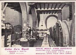 CELLER CA'N RIPOLL. BALEARES, ESPAÑA/SPAIN/L'ESPAGNE CIRCA 1960's TBE - BLEUP - Hotel's & Restaurants