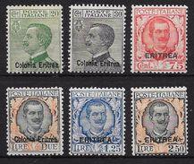 ERITREA. COLONIA ITALIANA YVERT Nº 93/98* - Eritrea