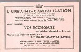Buvard L'URBAINE CAPITALISATION Faites Fructifier Vos économies - Bank & Insurance