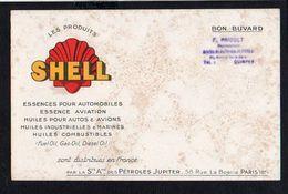 Buvard Publicitaire / Les Produits SHELL / Essences Et Huiles Pour Automobiles,aviation Sté Des Pétroles Jupiter Paris - Gas, Garage, Oil