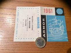 Calendrier 1961 * « ARMOR / MACHINE À ÉCRIRE H. AUDOUIN TOULOUSE (31) » (voilier) - Calendriers