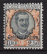 ERITREA. COLONIA ITALIANA YVERT Nº 129* - Eritrea