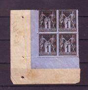 860 A N°83 * Et Sg En Bloc De 4 - 1876-1898 Sage (Type II)