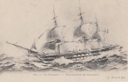 """Transports - Marine Guerre - Bâteaux  3 Mâts - Navire Ecole Cannonniers """"La Couronne"""" - Guerra"""