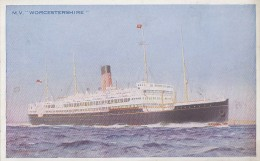 "Transports - Marine - Paquebot M.V. ""Worcestershire"" - Bibby Line - Segelboote"