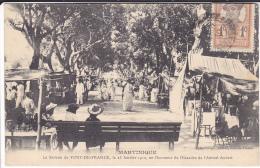 LA SAVANNE  LE 23 JANVIER 1910 EN L'HONNEUR DE L'ESCADRE DE L'AMIRAL AUVERT   (EDIT LEBOULANGER ) - Fort De France