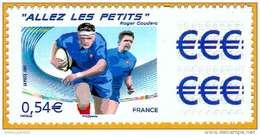 France**LUXE 2007 Personalisé 4032B Avec Vignette, Adhésif 117A Photo, Rugby Allez Les Petits, Vf O,54 € - Personalized Stamps
