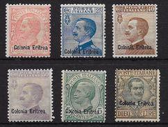 ERITREA. COLONIA ITALIANA YVERT Nº 31/36* - Eritrea