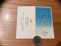 Calendrier 1962 « Ciel D'Eté L.T. Piver Paris Parfum /Coiffeur GUY LA ROCHELLE (17) » - Calendriers