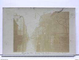 92 - 29 JANVIER 1910 - RUE DES FRERES HERBERT A LEVALLOIS PERRET - CARTE PHOTO - Levallois Perret