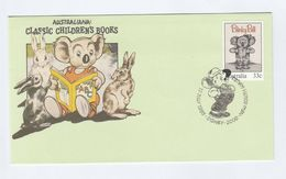 1985 AUSTRALIA FDC Stamps BLINKY BILL KOALA BEAR Children Story Book Cover Rabbit - FDC