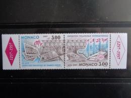 MONACO 1996 Y&T N° 2082 & 2083 ** SE TENANT - 60e ANNIV. DES EMISSIONS TIMBRES POSTES - Unused Stamps