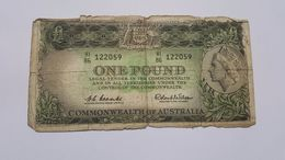AUSTRALIA 1 POUND COMMONWEALTH - Pre-decimal Government Issues 1913-1965