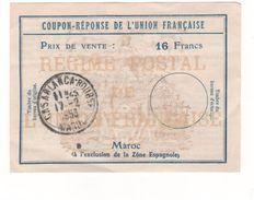 Coupon-réponse De L'union Française - Casablanca (Maroc). - Altri