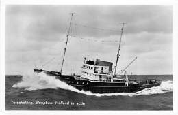 """ TERSCHELLING "" Sleepboot Holland In Actie ( NL Nederland ) REMORQUEUR Tug Boat Schlepper Sleepboot - CPSM Photo PF - Rimorchiatori"