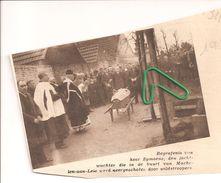 MACHELEN AAN DE LEIE ...1934...JACHTWACHTER SYMOENS  NEERGESCHOTEN DOOR STROPERS. - Vieux Papiers