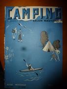 1938 CAMPING: Spécial SALON NAUTIQUE ->KAYAK Sur Les Lac Italiens (Garde,Côme,Maccagno,Isola,Lecco,Olgiasca,Varenna,etc - Livres, BD, Revues