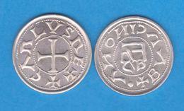 CARLOMAGNO  (768 - 814)  DINER  -  PLATA / SILVER  BARCELONA  SC/UNC  RÉPLICA   DL-12.157 - Otras Piezas Antiguas