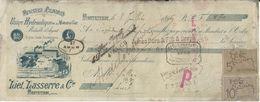 Montestruc 1896 - Minoterie à Cylindres L Lasserre - Mandat à L'ordre Avec Timbres Taxes. - France