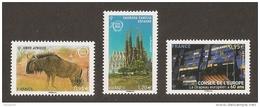 2015 -  Conseil Europe Et UNESCO N° 163 164 165 - Drapeau, Gnou D'Afrrique Et SAGRADA FAMILIA Barcelone -NEUF ** LUXE - Service