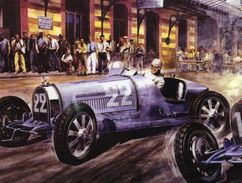 Monaco Grand Prix 1930  -  René Dreyfus (Bugatti) - Artist Carlo Demand  -  Plaque Métal 20 X 15 Cms  -  Neuf! - Advertising (Porcelain) Signs