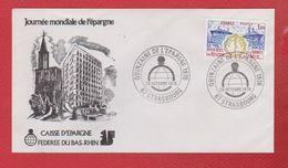 Lettre Premier Jour  / Quinzaine De L'épargne / Strasbourg   / 29 Octobre  1976 - 1970-1979