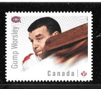 CANADA 2015 # 2870i,  NHL CANADIAN GOALIES:  Montreal Canadians   GUMP WORSLEY Single DEI CUT FROM QUARTELY PACK - Carnets