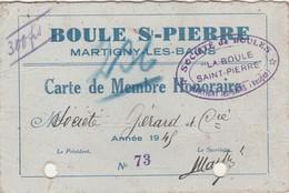 Petite Carte 1945 / Boule St Pierre / 88 Martigny Les Bains / Vosges - Cartes