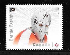 CANADA 2015 , #2871i,  NHL  CANADIAN GOALIES: PHILADELPHIA  FLYERS BERNIE PARENT  Single DIE CUT - Carnets