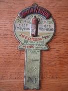 RARE Porte-boîte à Allumettes Publicitaire J. Et E. LETESSON Frères Distillateurs à ANDRIMONT-VERVIERS -Peket Lu VI STOK - Liquor & Beer