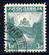 YUGOSLAVIA 1937 Little Entente 3d Perforated 12½ Used - 1931-1941 Königreich Jugoslawien