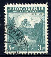 YUGOSLAVIA 1937 Little Entente 3d Perforated 12½ Used - 1931-1941 Kingdom Of Yugoslavia