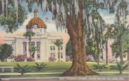 Florida Deland Volusia County Court House 1945 Curteich